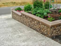 landscape retaining walls ideas with faux stone u0026 brick