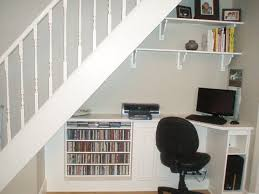 Space Saving Home Office Desk Space Saving Home Office Tucked Underneath A Staircase
