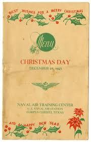 naval air center day menu december 25 1943