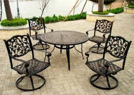 wrought iron patio table and chairs patio 8 person outdoor dining cast aluminum set metal patio ideas