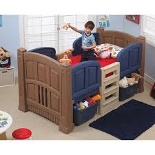 Step Boys Twin Loft Bed With Storage Walmartcom - Step 2 bunk bed