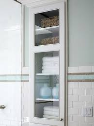 Recessed Shelves In Bathroom Adorable Recessed Wall Cabinet Bathroom Cabinets Between The Studs