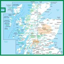 World Map Scotland by Survey Road Map 2 Western Scotland