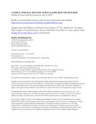 quarterly report template federal resume example military