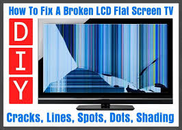 replacing led lights in tv how to fix a broken flat screen lcd led tv with lines or cracks