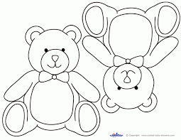 teddy bear templates kids coloring