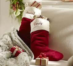 velvet christmas velvet with ivory cuff pottery barn
