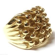 mens golden rings images Mens solid heavy 9ct gold 5 row keeper ring 36 grams newburysonline JPG