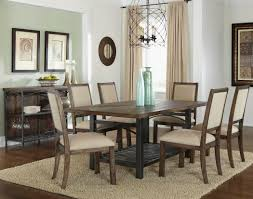 rectangle casual dining table in rustic brown finish oak