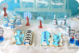 birthday decoration ideas at home for boy penguins u0026 polar bears winter onederland birthday party