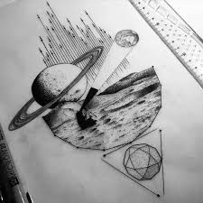 space exploration tattoo sketch best tattoo ideas gallery