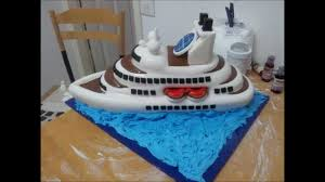 how to make a ship cake youtube