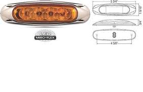 amber lighting danbury ct 8100636 led clearance marker light motofit atvs motorcycles and