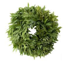 fresh bay leaf wreaths mcfadden farm