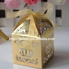 indian wedding gift box laser cut wedding cake candy gift box gold indian wedding return