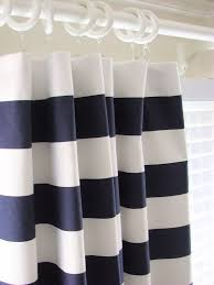 white curtains with navy blue design home decor interior and dark