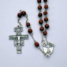 franciscan crown rosary assisi franciscan crown rosary the tau store