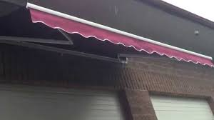 Installing Retractable Awning Aleko Retractable Patio Awning Burgundy Color Youtube