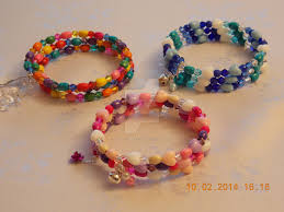 children s bracelets children s wrap around memory wire bracelets by quested creations