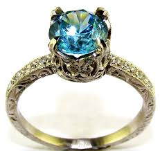 zircon engagement rings blue zircon platinum solitaire ring the jewelers guild