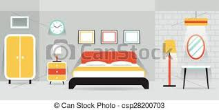 home interior vector bedroom furniture display panorama household home interior