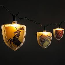 game of thrones light game of thrones sigils string lights thinkgeek