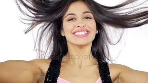 hispanic hair pics cute hispanic girl moving long silky hair smiling super slow
