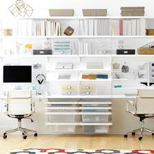 Decorate Office Shelves by Office Shelves Wall Shelves U0026 Home Office Ideas The Container Store