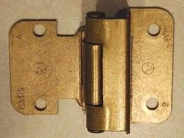 3 8 Inset Cabinet Hinges Four 4 Cabinet Door Self Closing Hinges 3 8 Inset Burnished Brass