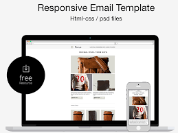 free psd html responsive email template by marco lopes dribbble