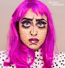 how to make white face makeup for halloween halloween makeup how to pop art comic book more com