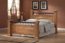 Painted Bedroom Furniture by Bedroom Furniture Bedroom Clear Coating Oak Wood Bed Frame With