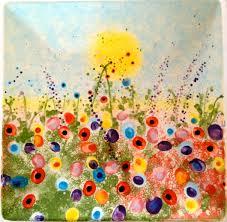 fingerprint garden flowers are made from children u0027s fingerprints