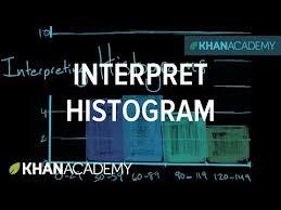 interpreting a histogram video khan academy