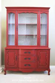twice lovely red glazed hutch