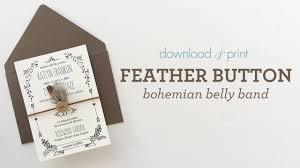 invitation belly band free printable invitation design