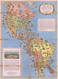 Maps North America by File 1930 Pictorial Map Of North America And South America