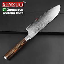 couteaux de cuisine japonais xinzuo 7 pouces couteau de chef japonais damas cuisine en acier
