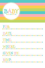 Free Printable Birthday Invitation Cards For Kids Awesome Invitation Cards For Baby Shower Templates 31 For Your