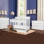 White 4 In 1 Convertible Crib Davinci Brook 4 In 1 Convertible Crib With Toddler Rail In White