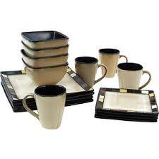 walmart mosaic tile square 16 dinnerware set kit