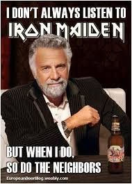 Funny Couple Meme - memes iron maiden heavy metal trooper beer music funny humor