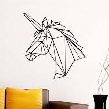 online shop geometric horse head wall stickers modern