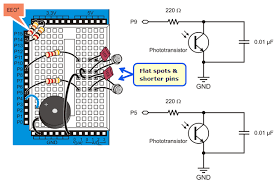 build the light sensor circuits learn parallax com
