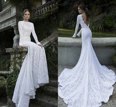wedding dress lace back and sleeves sleeve low back wedding dress weddingcafeny com