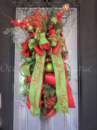 christmas door swag christmas wreath holiday wreath christmas