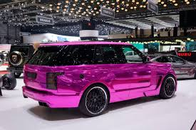 range rover pink interior hamann u0027s range rover based mystere is your chrome pink ticket to
