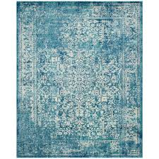 Safavieh Rugs Safavieh Evoke Blue Ivory 9 Ft X 12 Ft Area Rug Evk256c 9 The