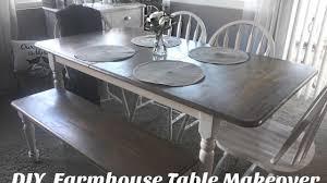 Farm House Kitchen Table by Diy Farmhouse Table Makeover Youtube