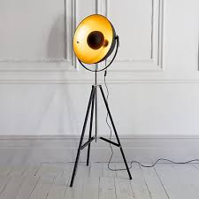 Fillable Floor Lamp Archie Photographic Tripod Floor Lamp In Black And Gold Interior